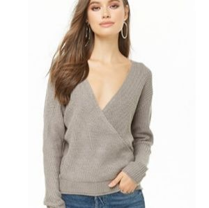 Gorgeous Ribbed Surplice Top